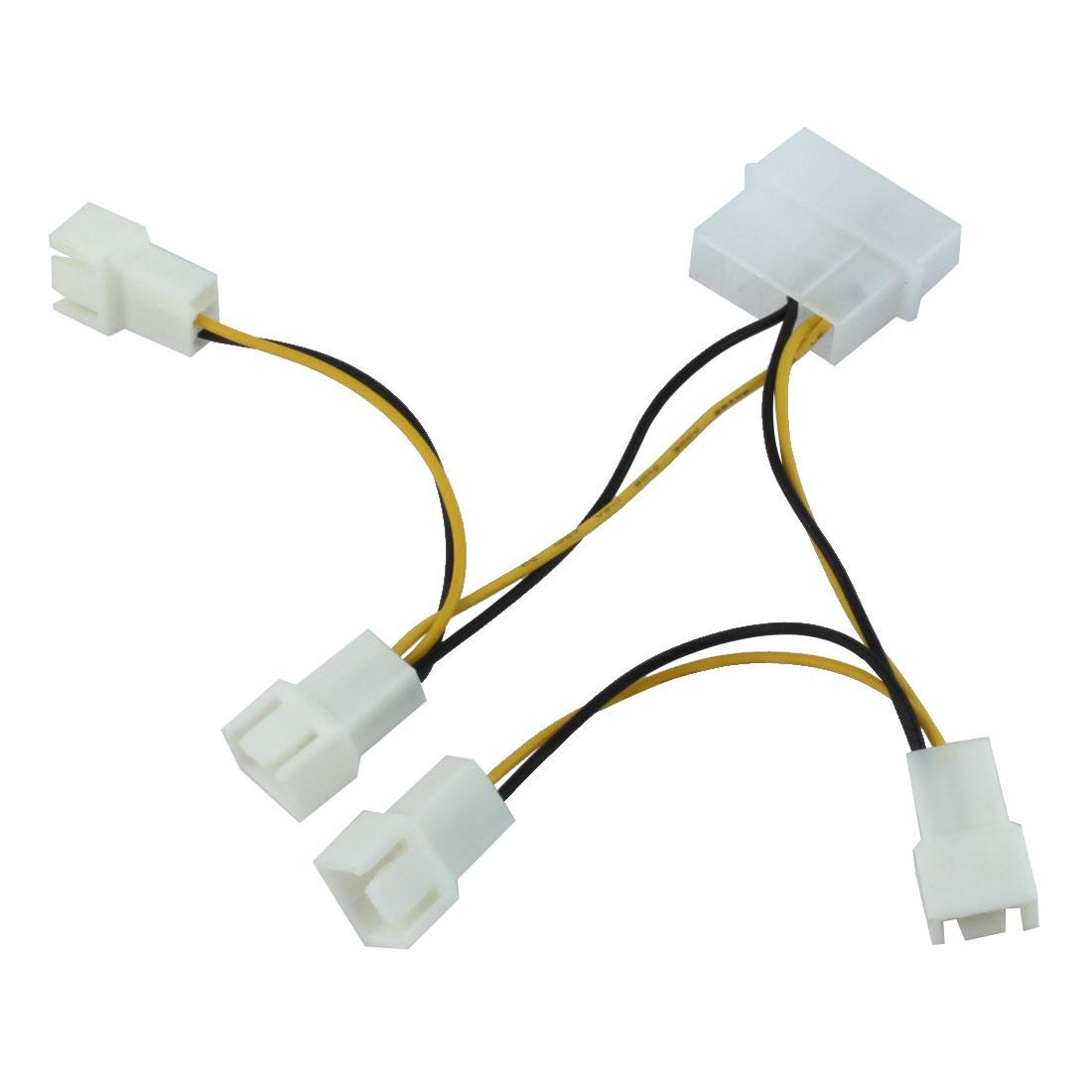 PC Cooler Cooling Fan 4 Terminals IDE to 4 x 12V 3 Terminals Power Connector Adapter Cable