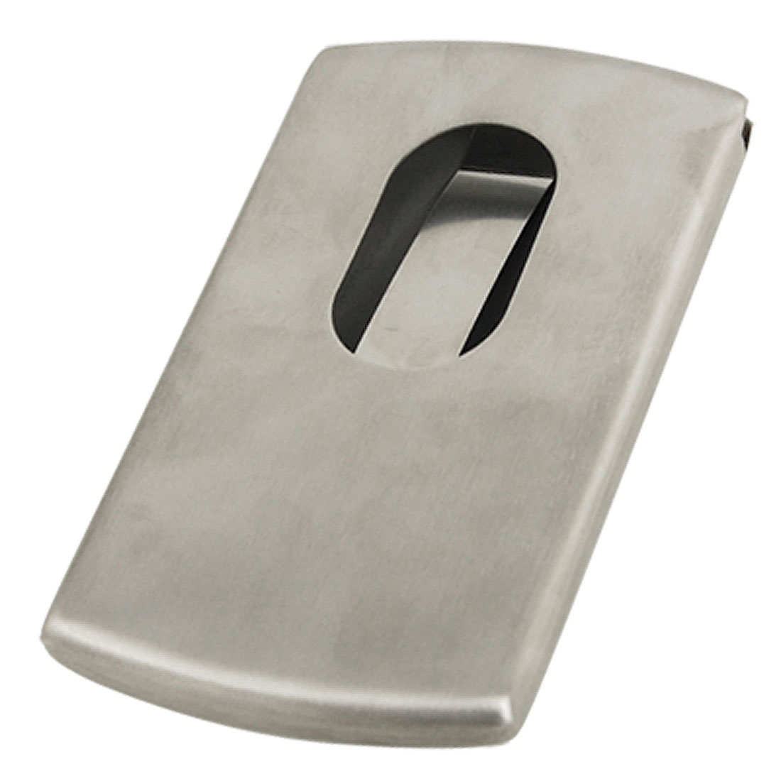 Pocket Silver Tone Metal Case Name Business Card Holder