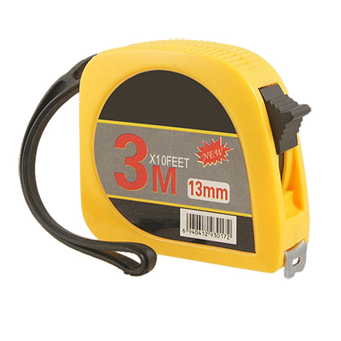 Retractable 3 Meters 10FT Long Scale Steel Measuring Tape Orange