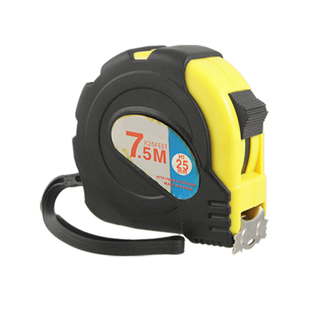 Retractable 7.5M Dual Scale Steel Construction Measuring Tape