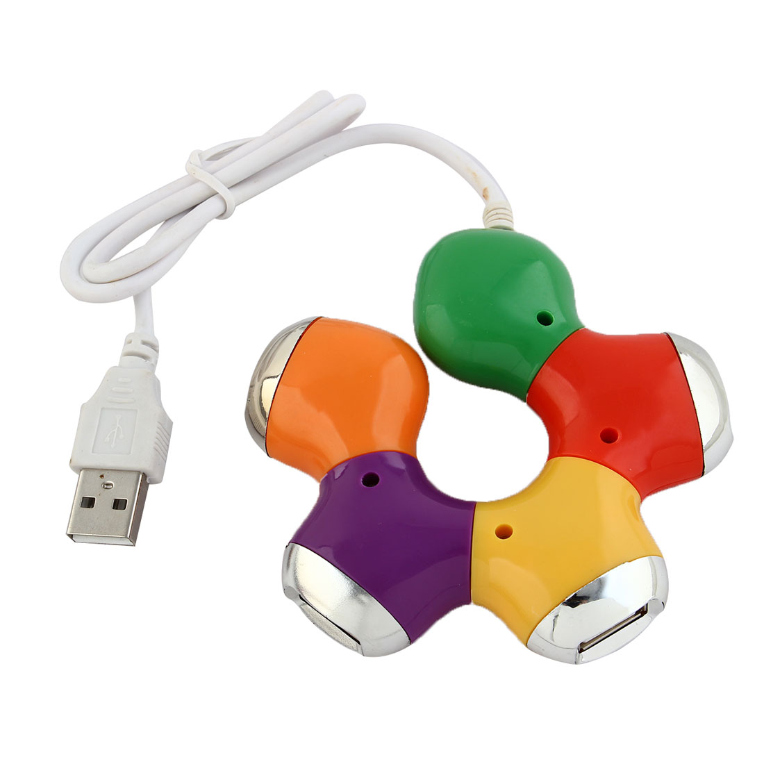 Colored USB 2.0 Hi-Speed 4-Port Splitter Hub Adapter for PC Computer Notebook