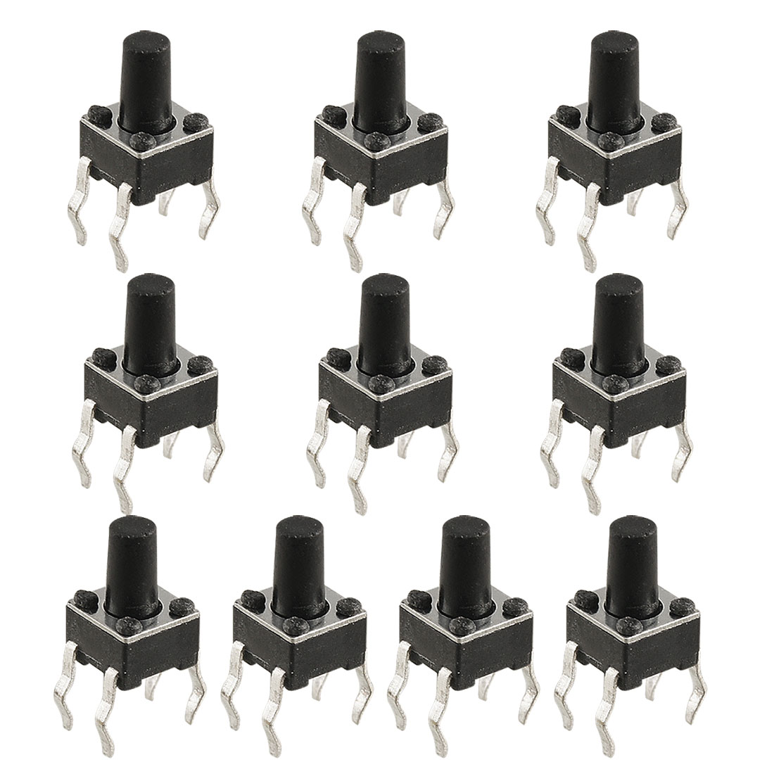 10 Pcs PCB Momentary Tactile Tact Push Button Switch 4.5 x 4.5 x 7.1mm 4 Pin DIP
