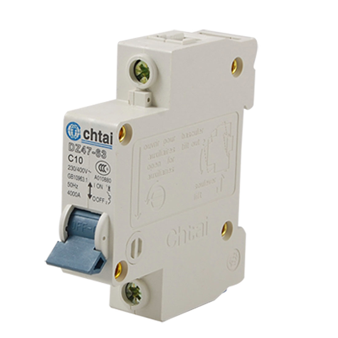 DZ47-63 10A Electrical Single Pole MCB Mini Circuit Breaker