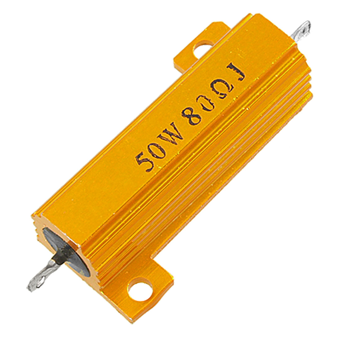 Gold Tone Wirewound Aluminium Clad Power Resistor 5% 50W 80 Ohm