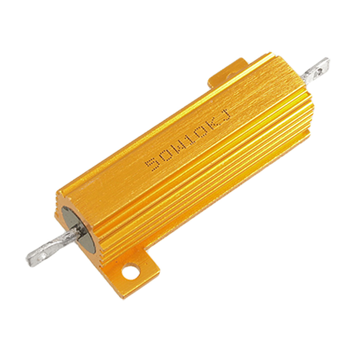 Chassis Mount Wirewound Aluminium Housed Resistor 5% 50W 10K Ohm Gold Tone