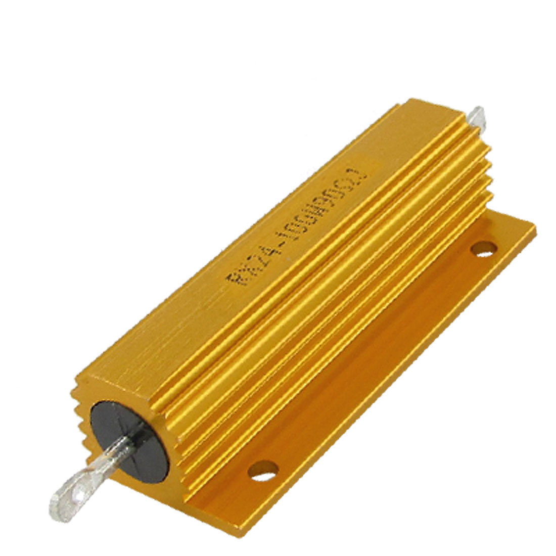 Gold Tone Housed 100W 90 Ohm Resistance Aluminium Resistor
