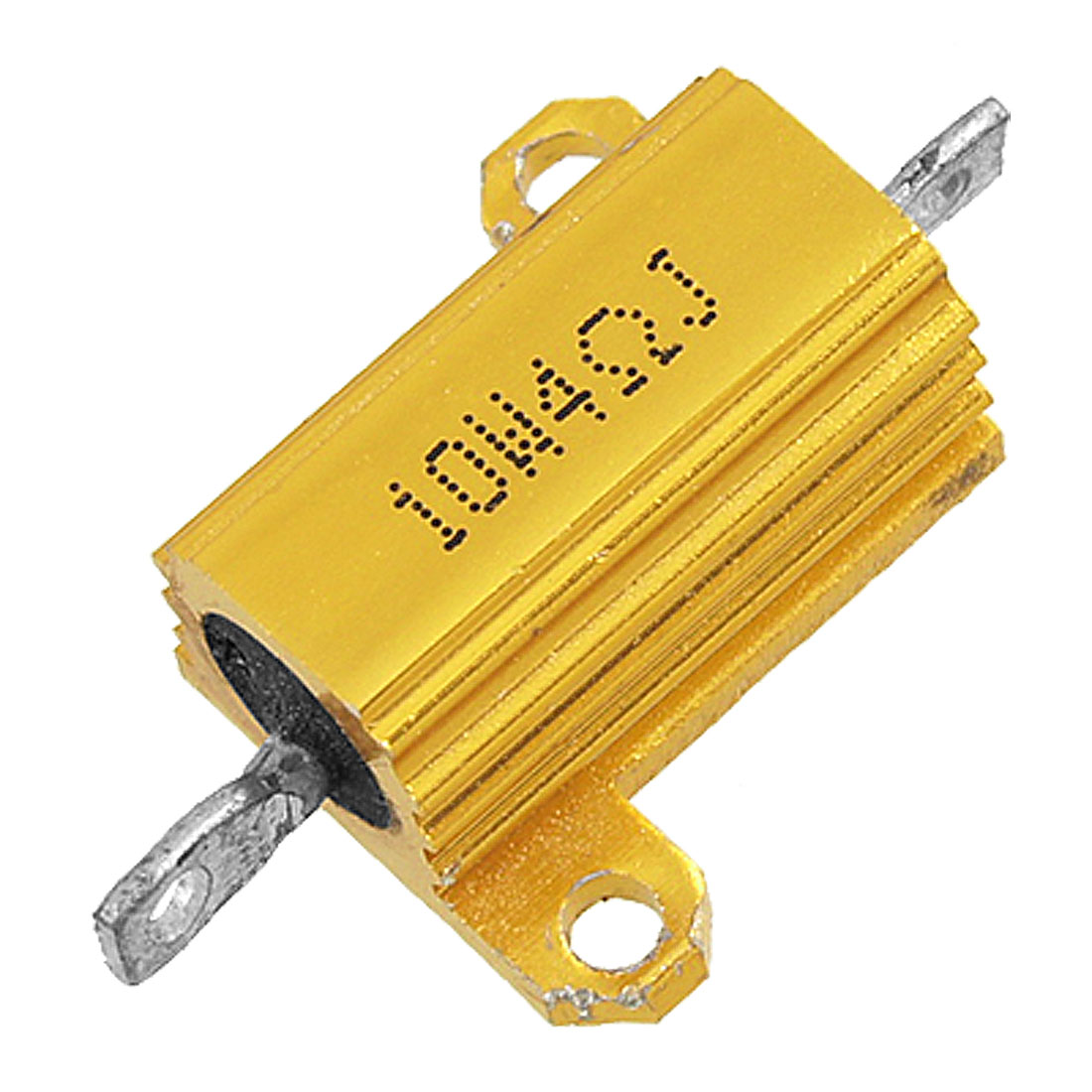 Gold Tone Aluminum Housed Wirewound Resistors 10 Watt 4 Ohm 5%