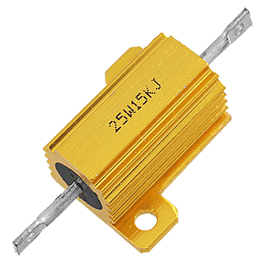15K Ohm 5% Screw Tap Mounted Aluminum Housed Wirewound Resistor 25W