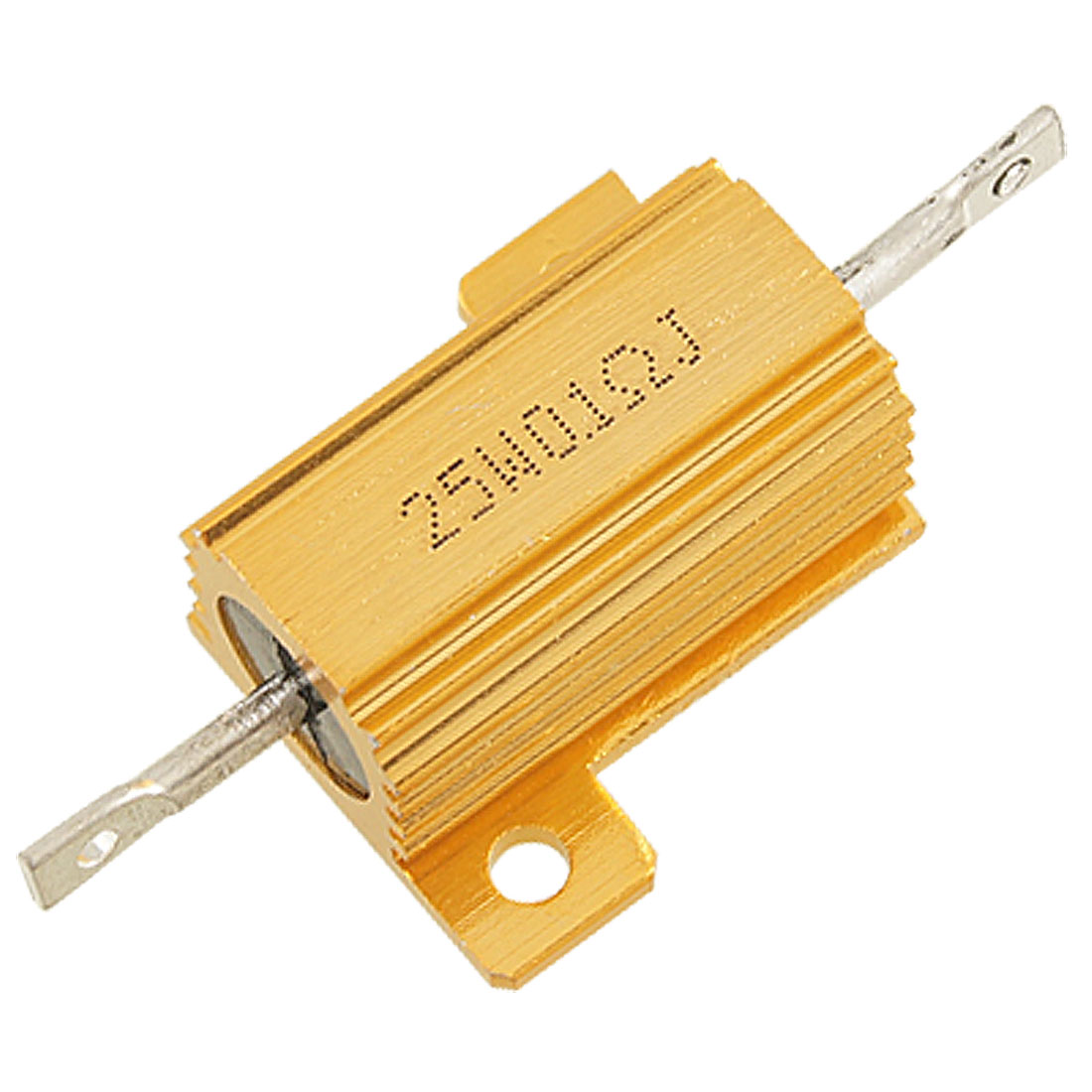 25W 0.1 Ohm 5% Gold Tone Aluminum Housed Wirewound Resistor