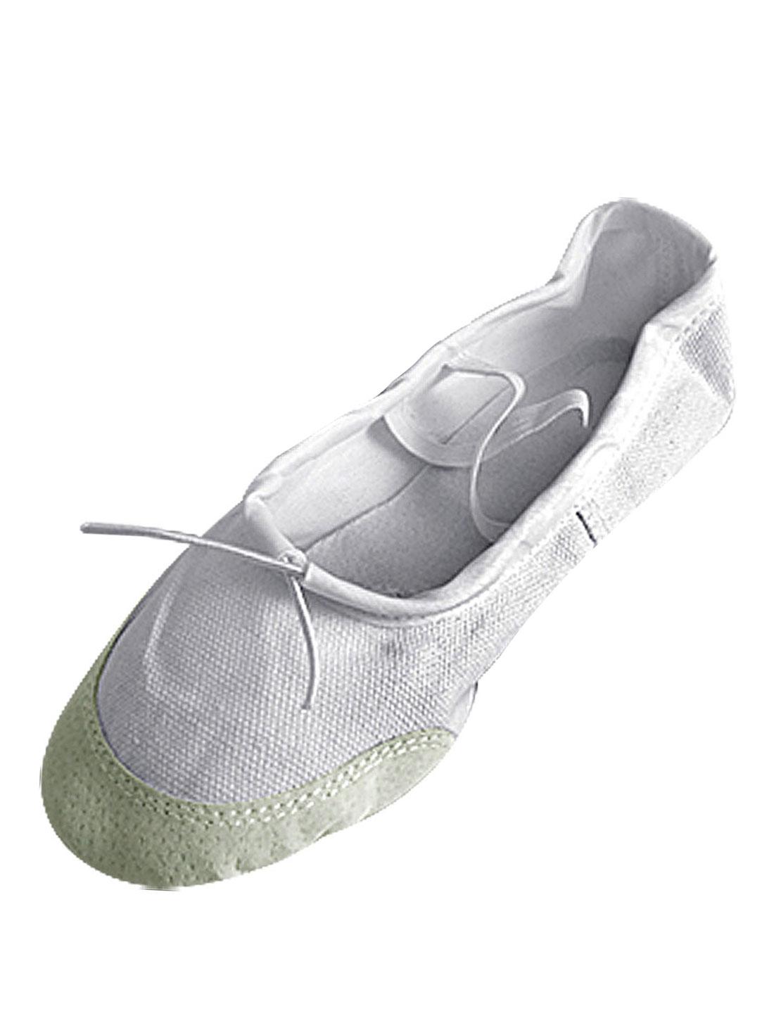 Girls Elastic Bands Beige Ballet Soft Dancing Shoes Us Size 1.5