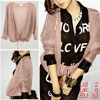 Women Pink 3/4 Sleeve Open Front Rib Knit See Through Jacket XS