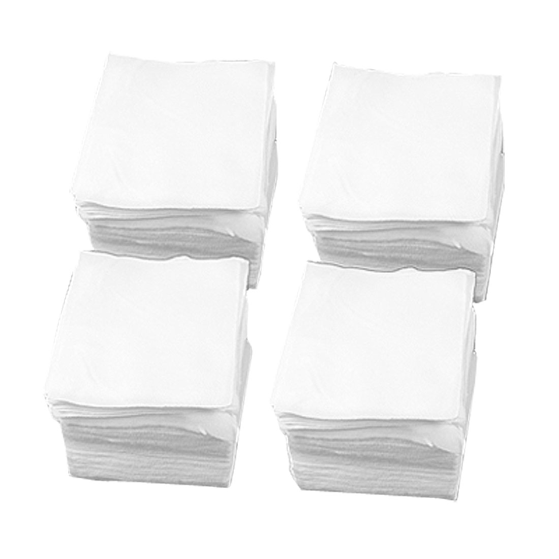 """600 Pcs PCB LCD White Dustless Cloth Polyester Cleanroom Wipers 4"""" x 4"""""""