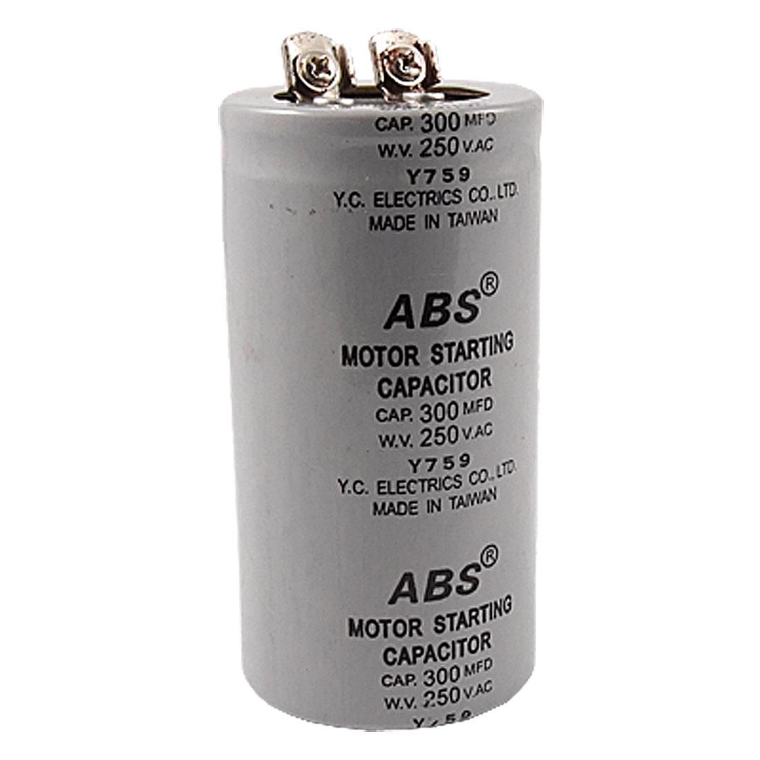 300MFD 300uF AC 250V Screw Terminal Motor Starting Capacitor