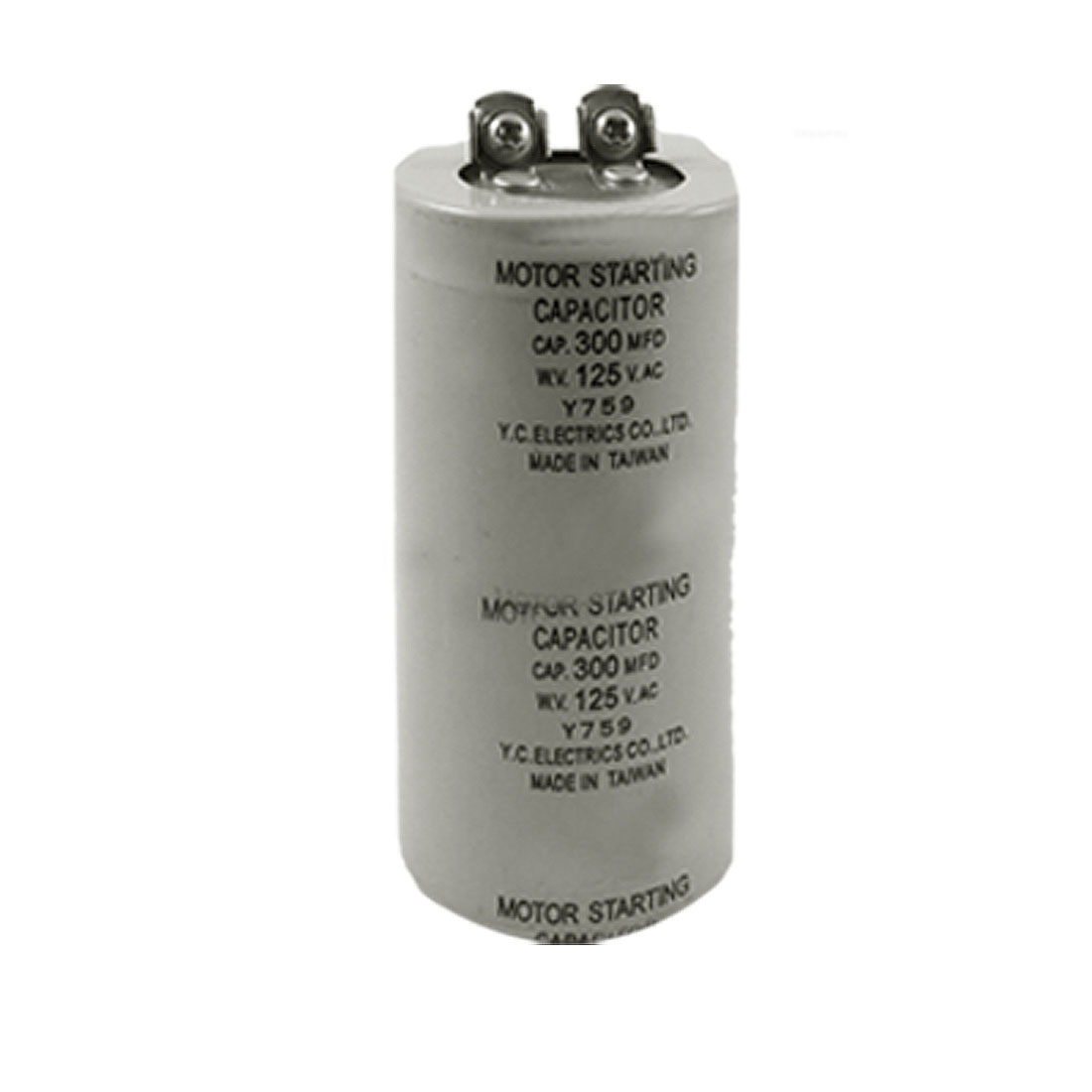 300MFD 300uF AC 125V 5% Metallized Paper Motor Capacitor