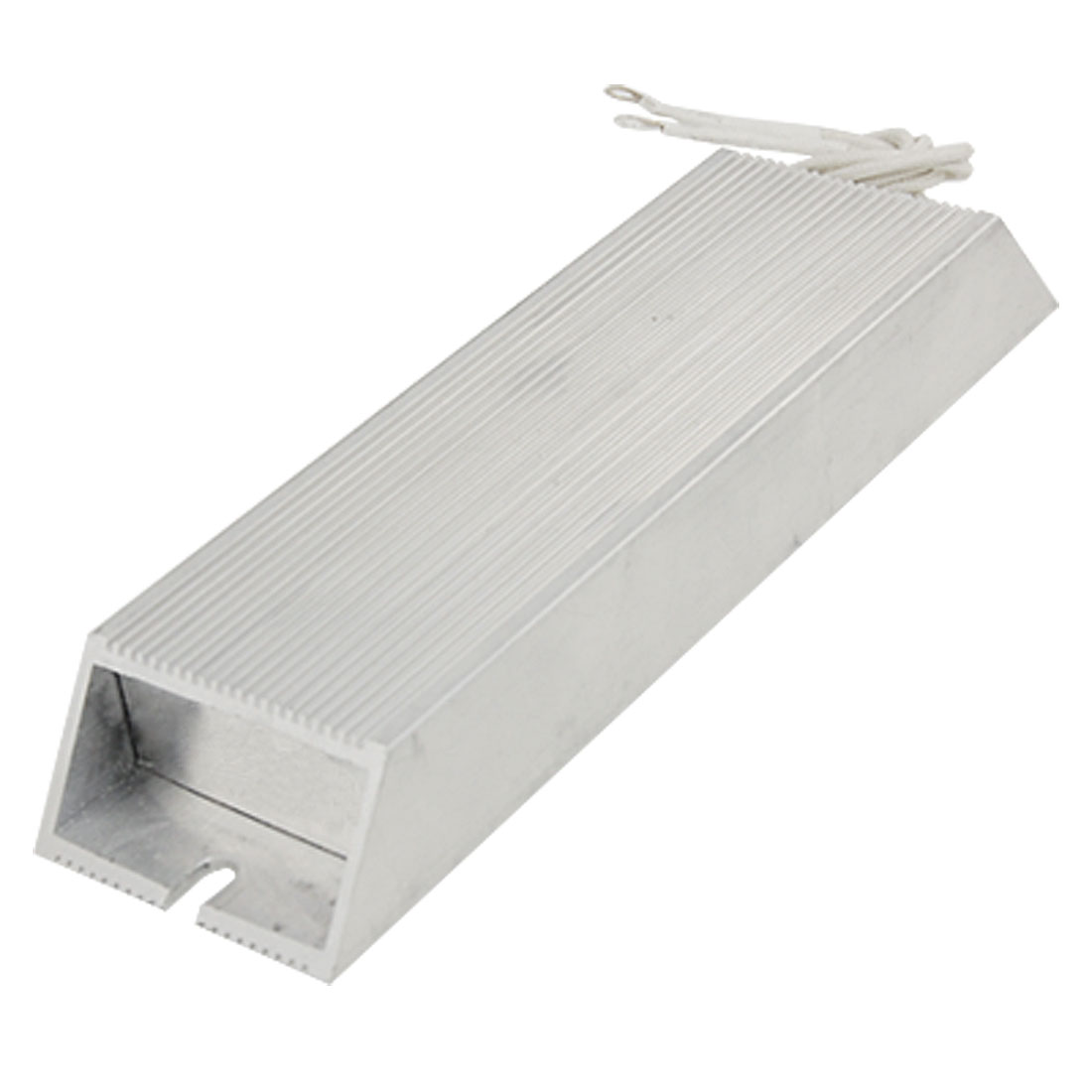 300W 100ohm 5% Aluminum Housed Resistor Silver Tone