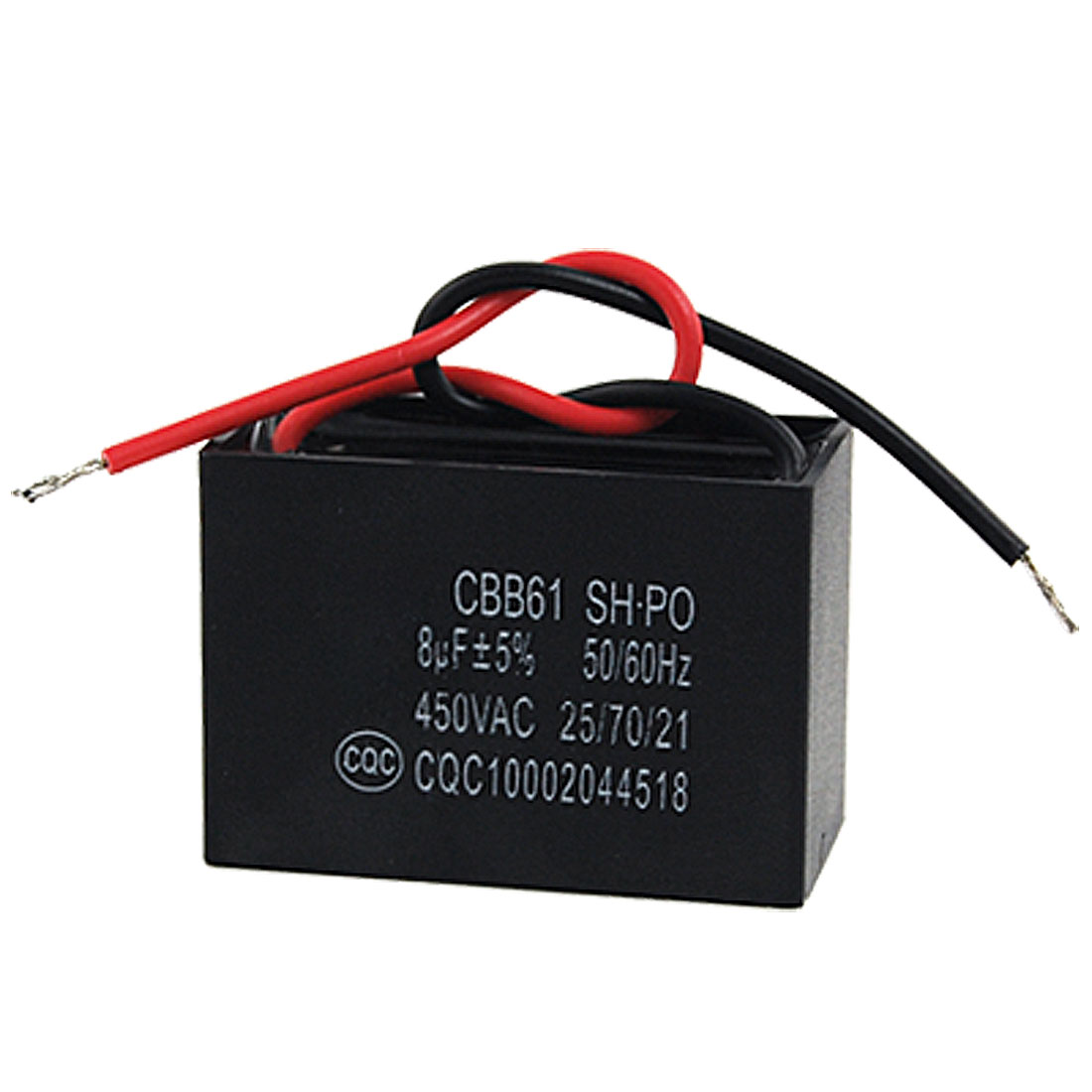 8000nF 8MFD 8uf 450VAC 50/60Hz 2 Wire Fan Capacitor CBB61