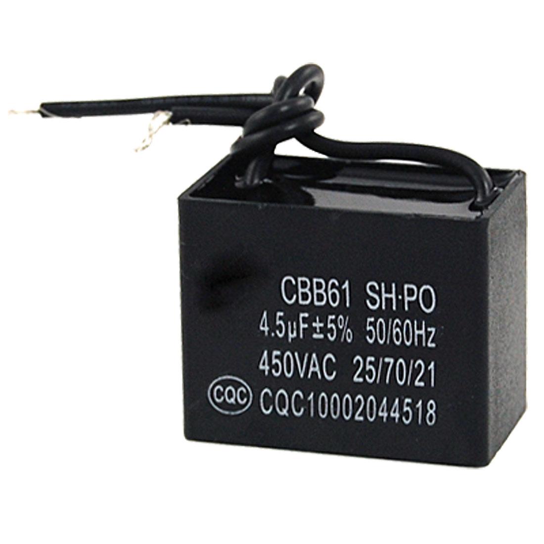 CBB61 4.5UF 5% 450V AC Motor Run Capacitor