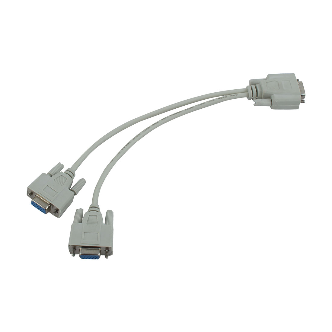 Video 1 Male/2 Female VGA Adapter Cable Splitter Converter 27.5cm Long