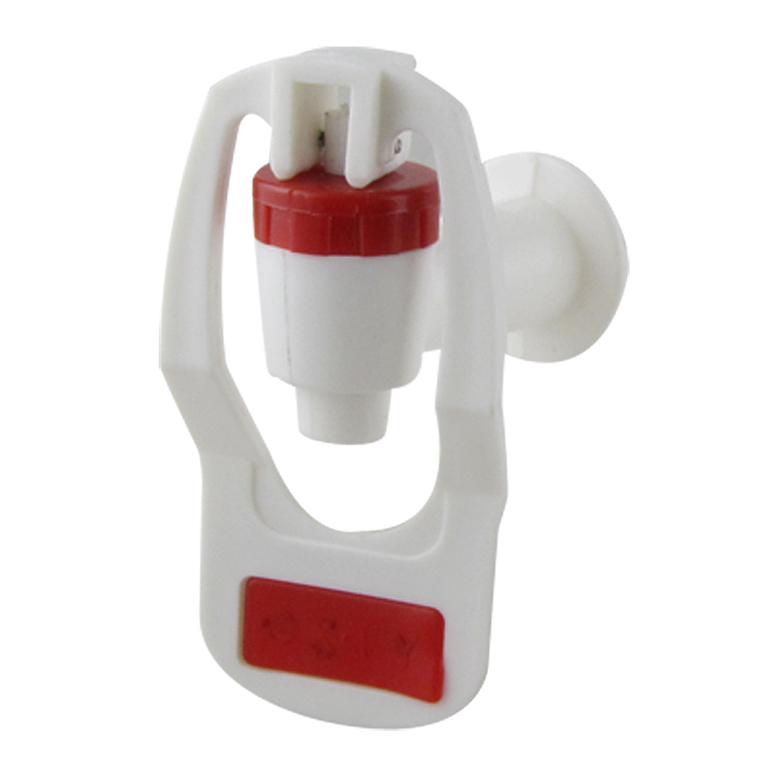 Water Dispenser Replacement Push Type White Red Plastic Tap Faucet