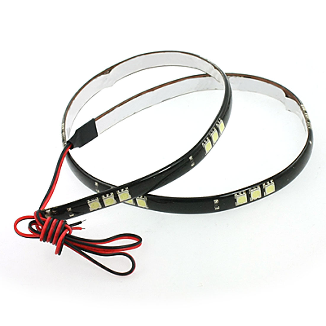 "60CM 24"" 5050 30 SMD Waterpoof Flexible LED Light Strip White for Car"