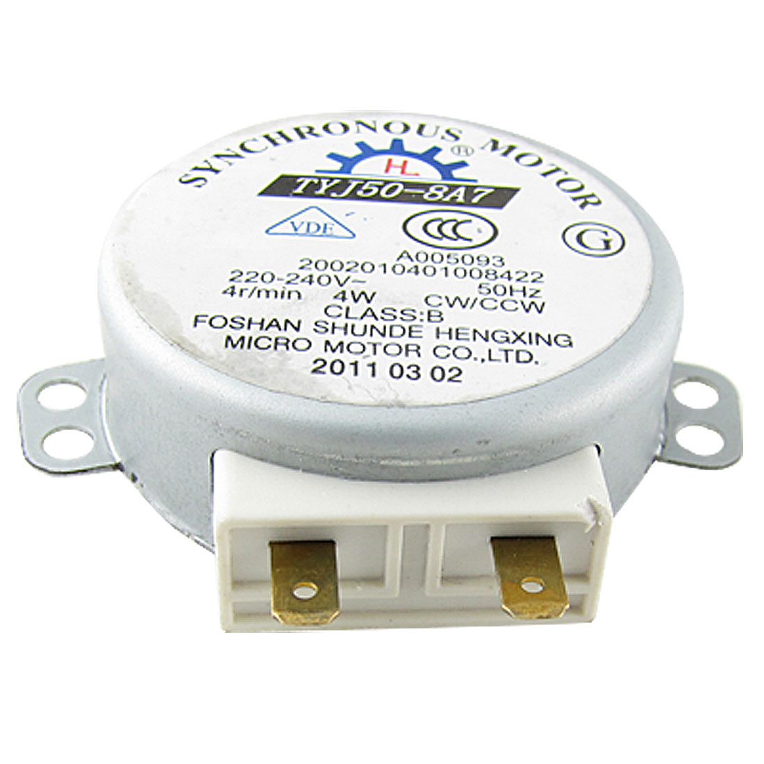 Microwave Oven Turntable Synchronous Motor 4W AC 220-240V 4RPM CW/CCW
