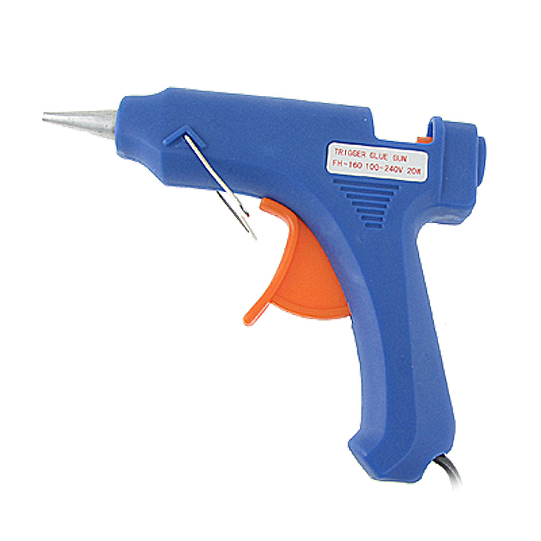 US Plug AC 100-240V 20W Heating Hot Melt Trigger Mini Glue Gun Blue