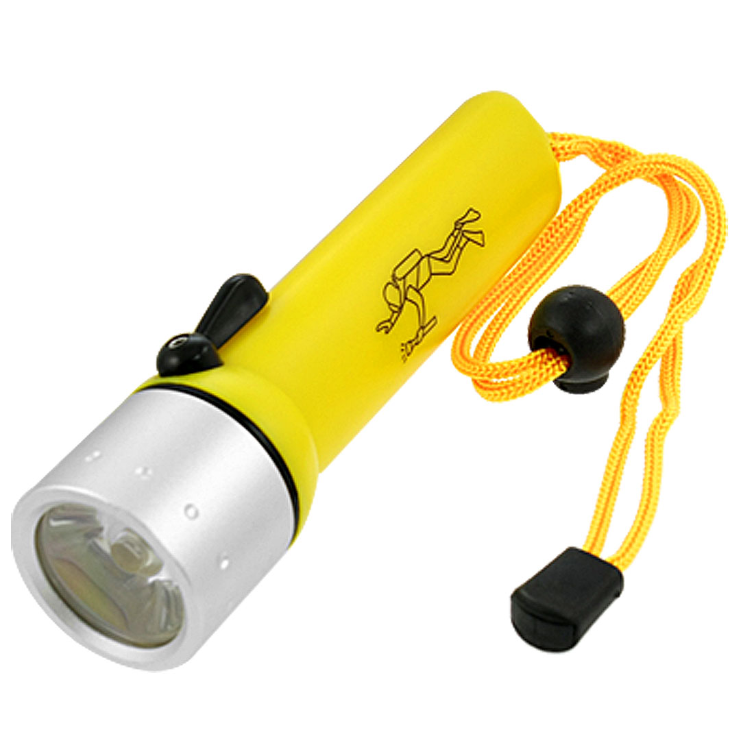 Orange Shell White Light Q5 LED Waterproof Diving Flashlight Torch 180LM