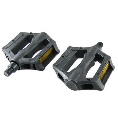 Pair 14.2mm Axle Hard Plastic MTB BMX Bike Bicycle Platform Pedal Black