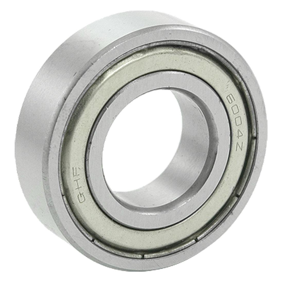 6004ZZ Metal Double Shields Ball Bearing 20mm ID 42mm OD 12mm Width for Motors