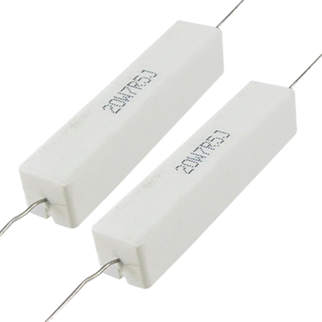 2 Pcs 20W 7.5 ohm 7R5 Wire Wound Ceramic Cement Resistor