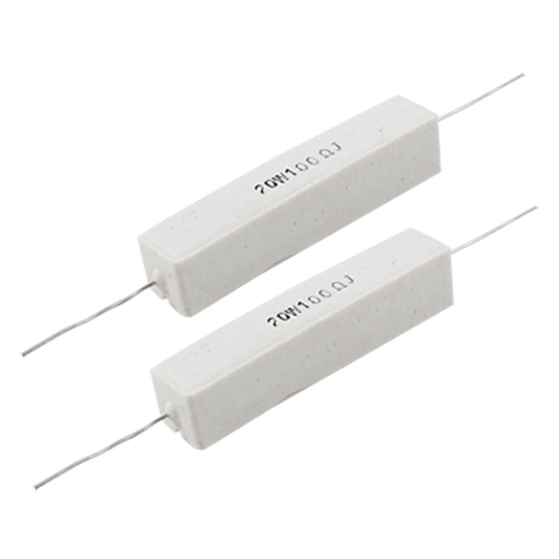2 Pcs 5% 20W Watt 100 Ohm Wirewound Cement Power Resistors