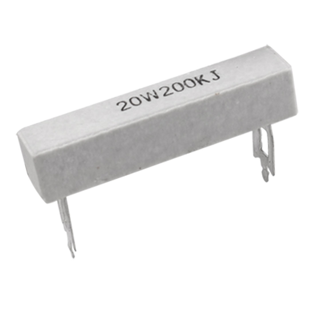 2 Pcs 20W 200K Ohm 5% Wire Wound Ceramic Cement Resistors