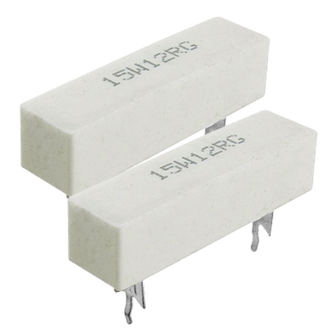 2x Wire Wound Ceramic Cement Power Resistor 15W 12 ohm 12R 2%
