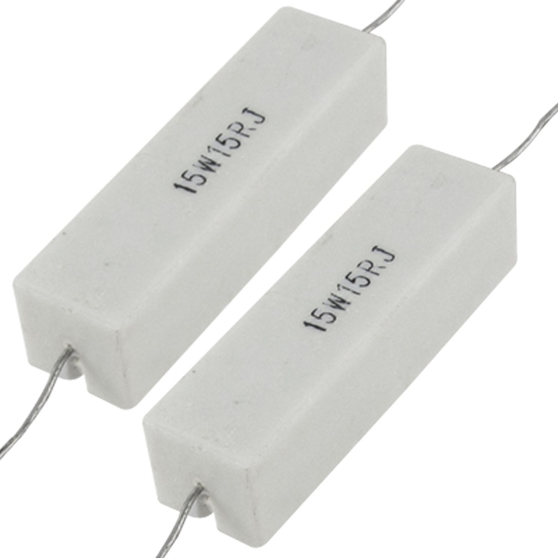 15 15R Ohm 5% 15W Wire Wound Ceramic Cement Resistor 2 Pcs