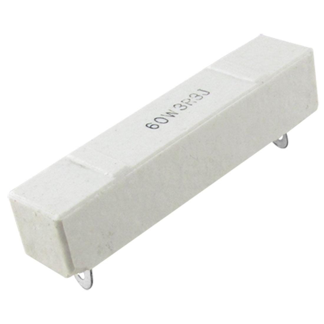 60W 3.3 Ohm DIP Wirewound Ceramic Cement Resistor 3R3 5%