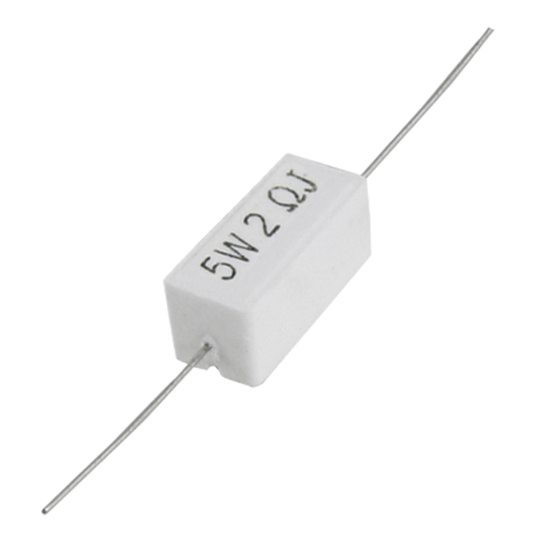 10 Pcs 5W Watt 2 Ohm 5% Wire Wound Ceramic Cement Resistors