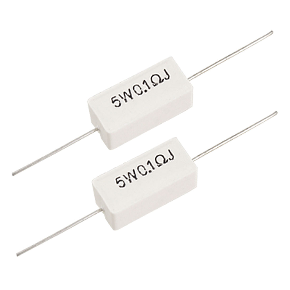 10x 5W Watt 0.1 Ohm 5% Ceramic Cement Power Resistors