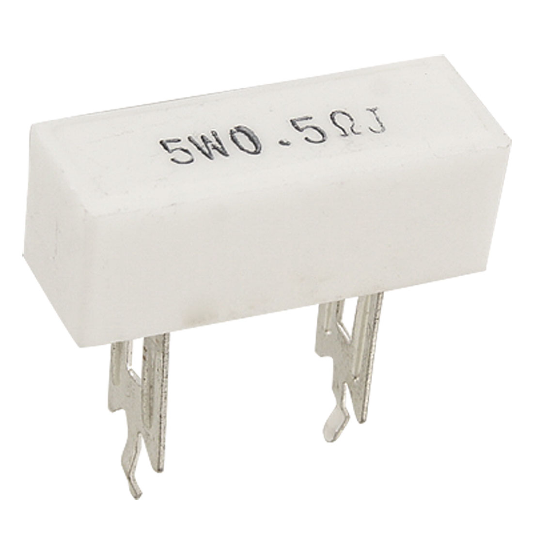 10 Pcs 5W 0.5 Ohm 5% DIP Wirewound Ceramic Cement Resistor