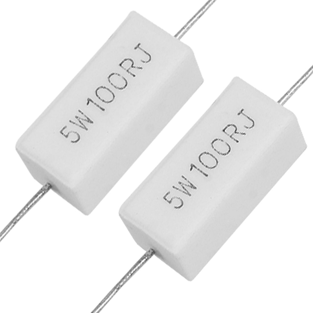 10x Wirewound Ceramic Cement Resistor 100 Ohm 5W Watt 5%