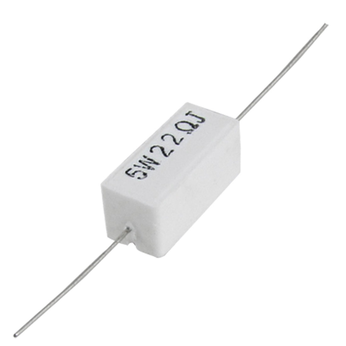 10 Pcs 5W Watt 22 Ohm 5% Axial Wirewound Cement Resistor