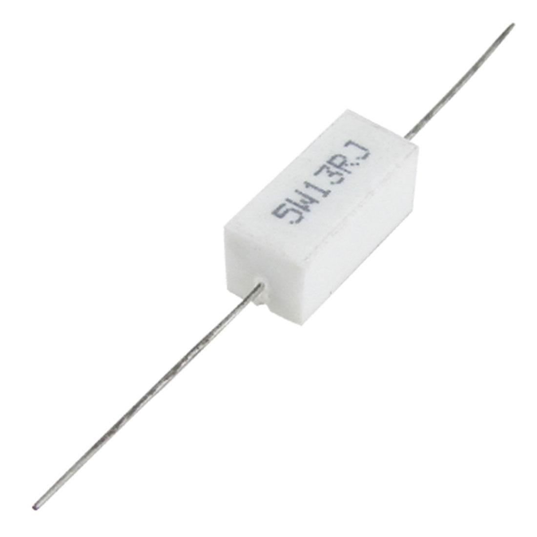 5W Watt 13 Ohm 5% Wirewound Ceramic Cement Resistor x 10