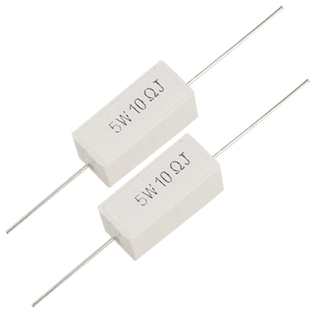 5W 10 Ohm 5% Wirewound Cement Power Resistors x 10 Pcs