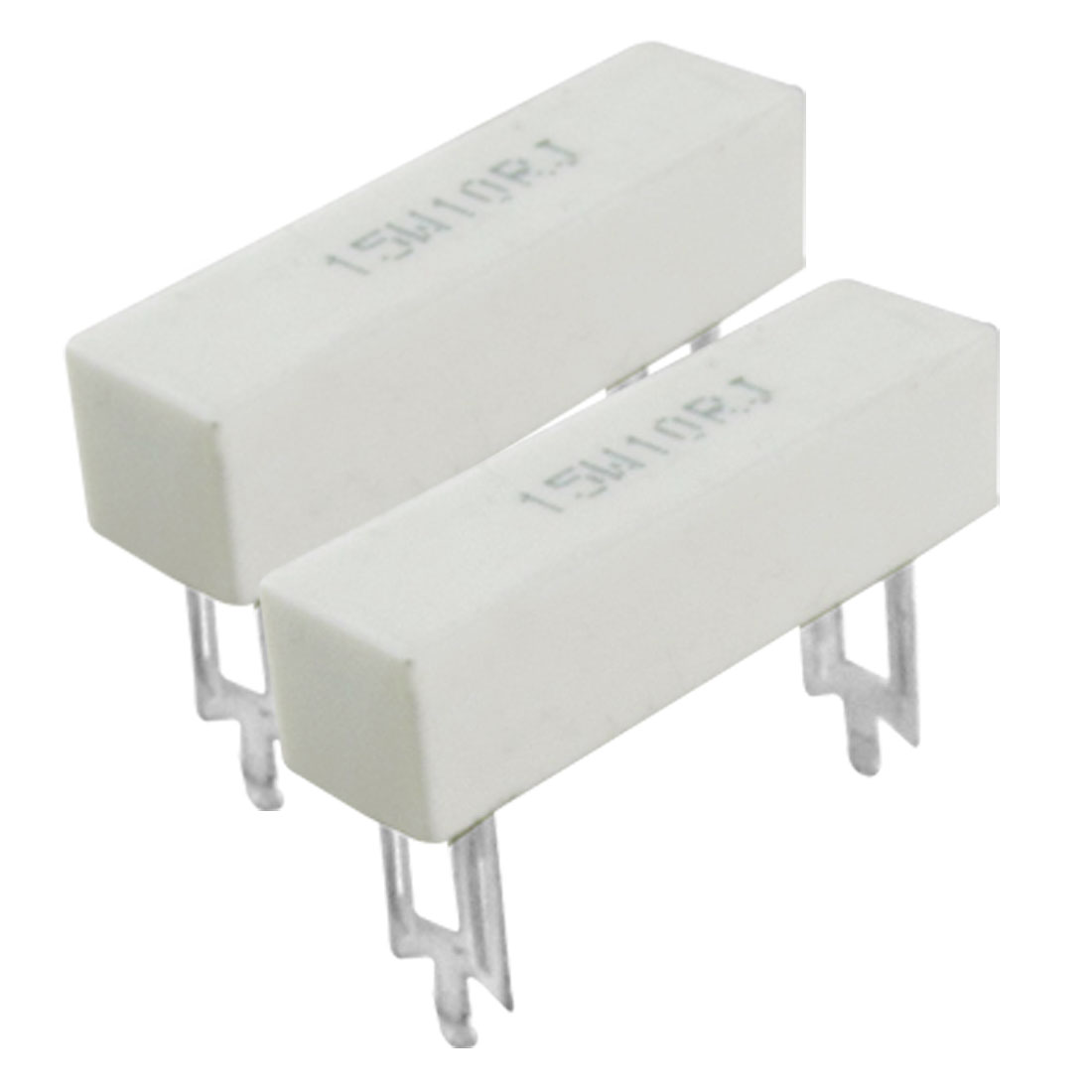 2 Pcs 15W 10 Ohm 5% DIP Wirewound Ceramic Cement Resistor