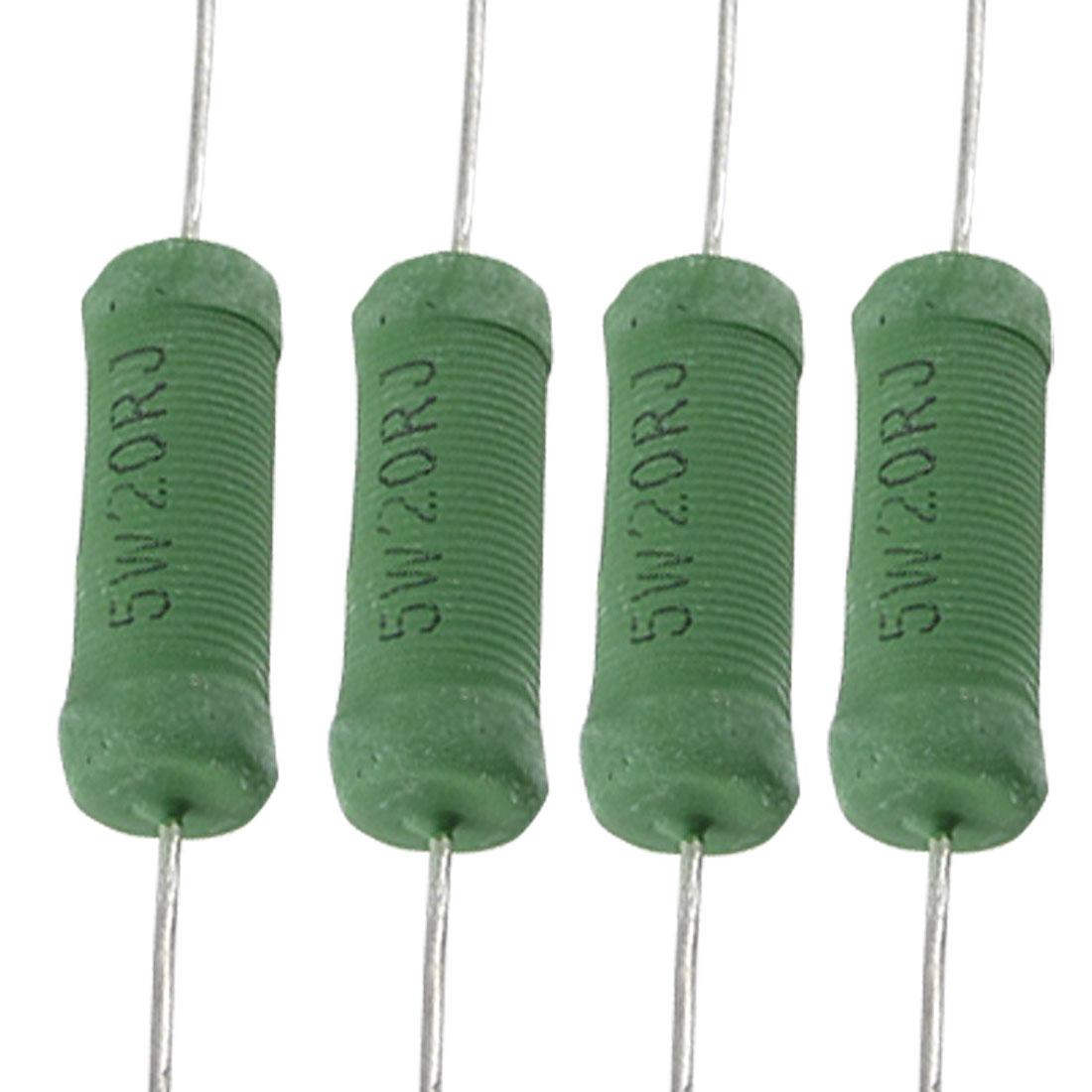 Axial Lead 5W 20 Ohm Ceramic Wirewound Resistor R 10 Pcs