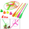 4 Pcs Plastic Spinning Shooter Colorful Flying Disc Toys for Children