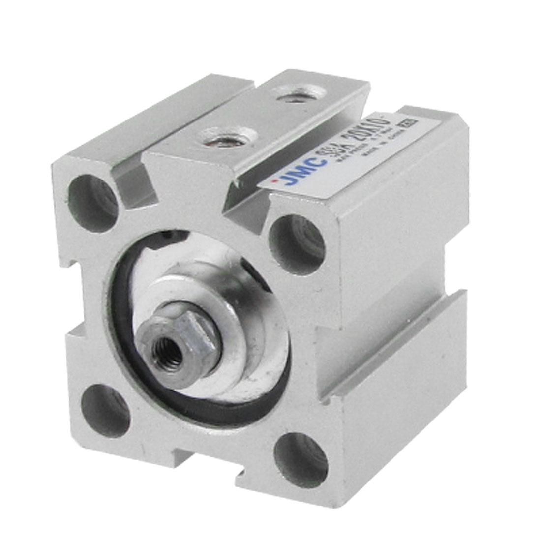 20mm Bore 10mm Stroke Aluminum Alloy Mini Thin Air Cylinder