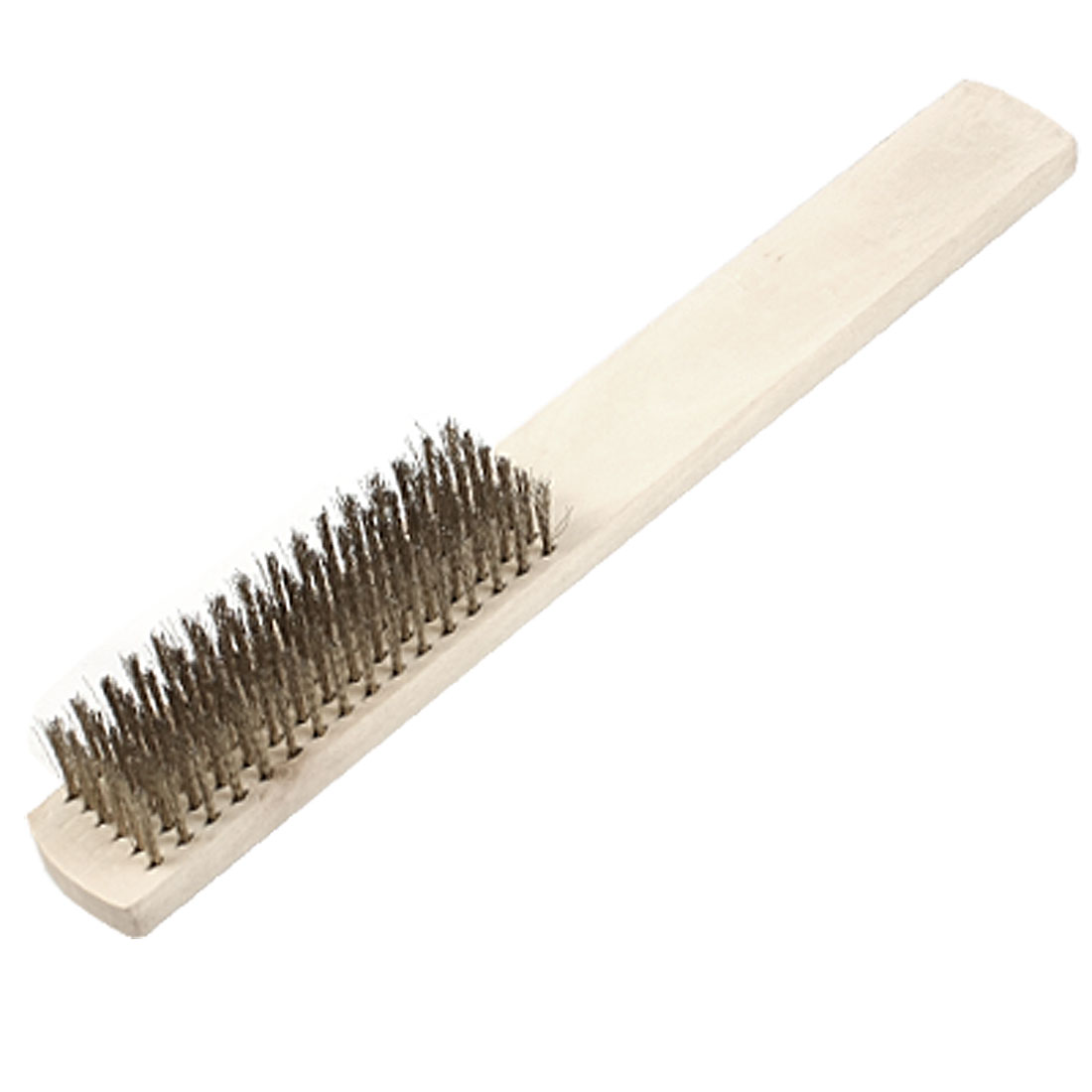 Industrial Wood Handle 6 Rows Metal Wire Tooth Brush