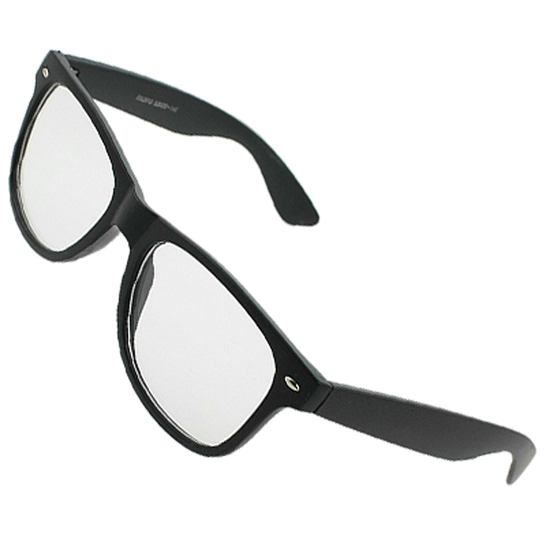 Black Oval Lens Full Frame Single Bridge Plano Glasses for Lady