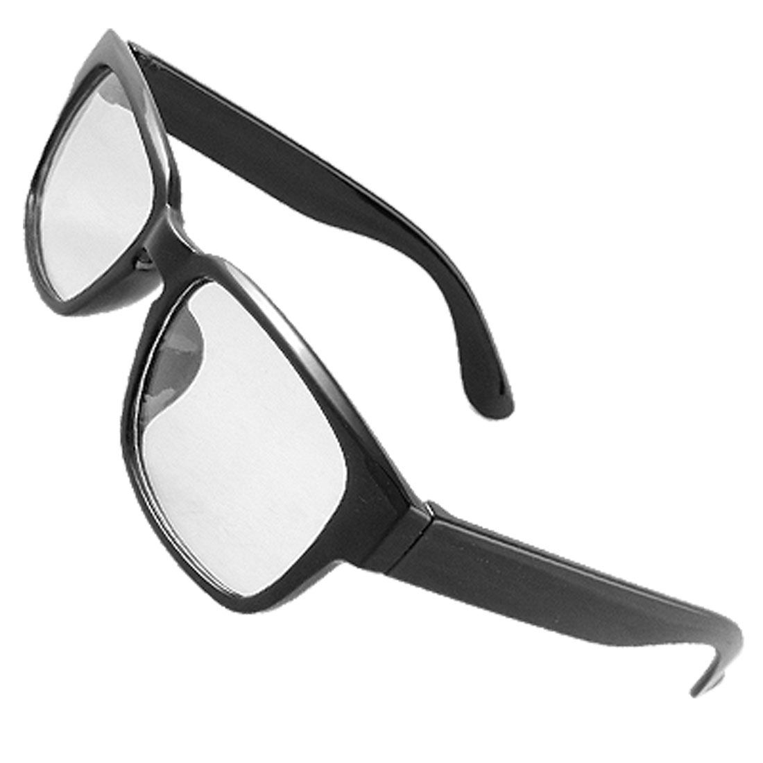 Lady Plastic Black Full Rim Clear Lens Spectacles Glasses