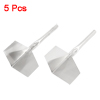 Garden Metal Handle 90 Degree Drywall Outside Corner Trowels Silver Tone 5pcs